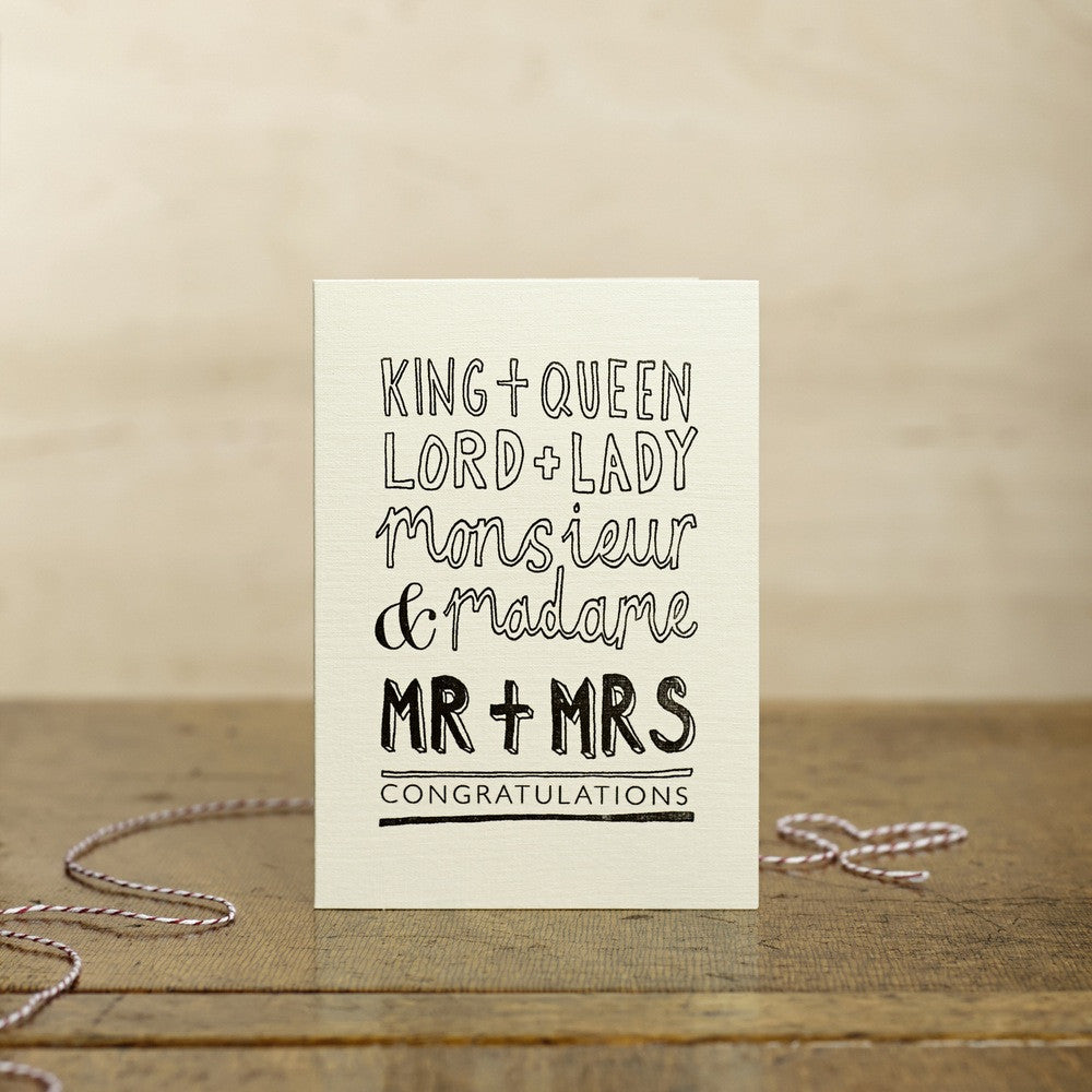 King + Queen, Mr + Mrs Card