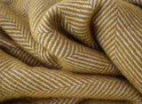 Herringbone Throw   Mustard