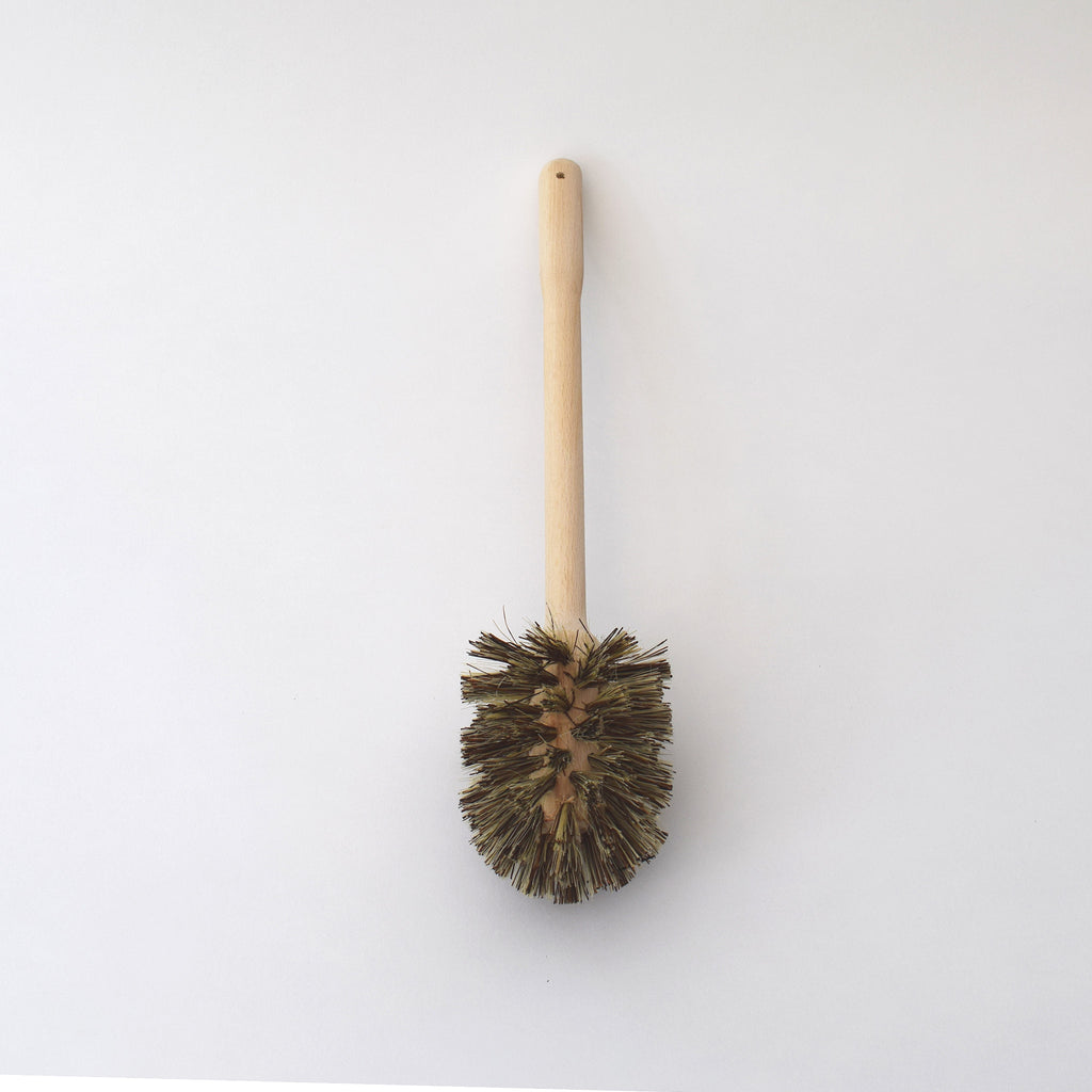 Traditional wooden toilet brush