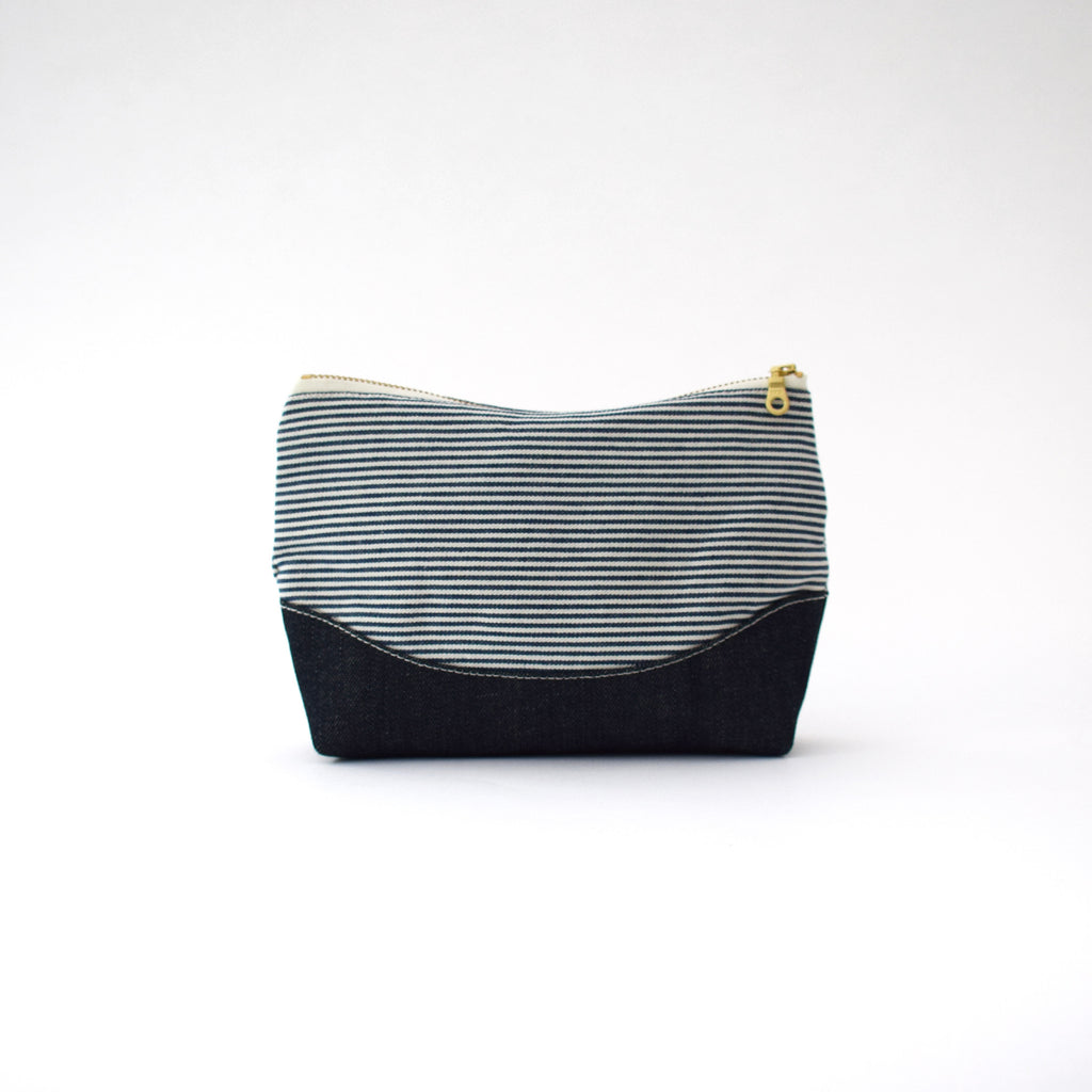 Ticking Stripe Pouch