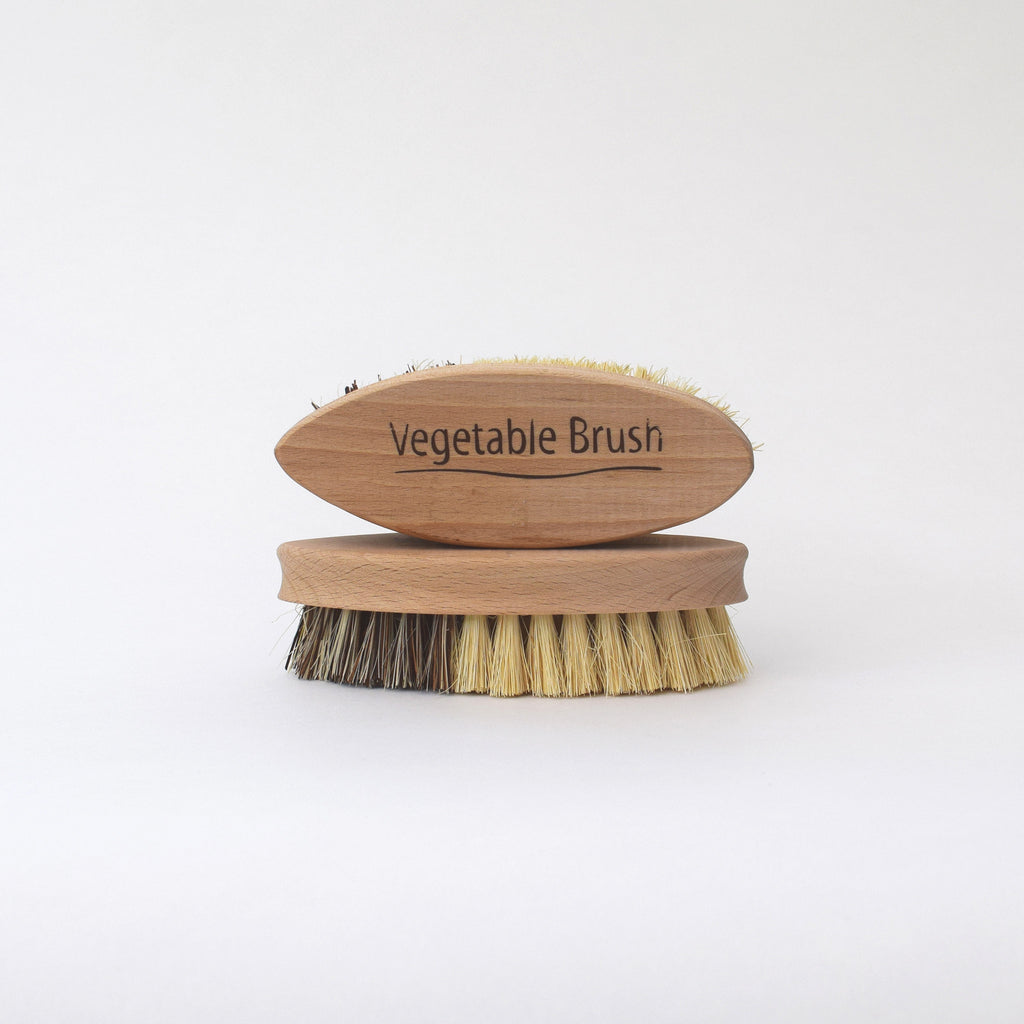 wooden vegetable brush by Redecker