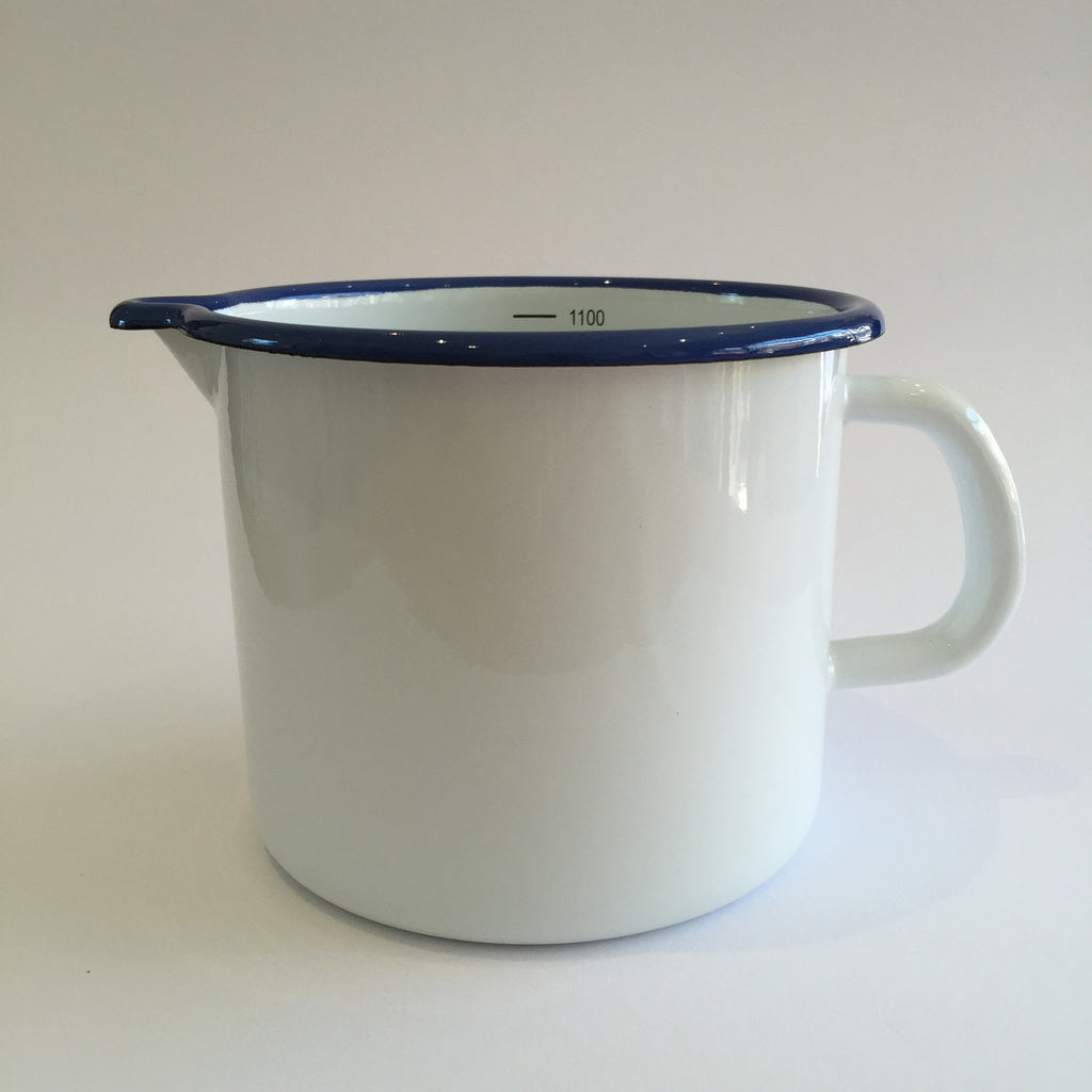 Traditional Enamel Measuring Jug