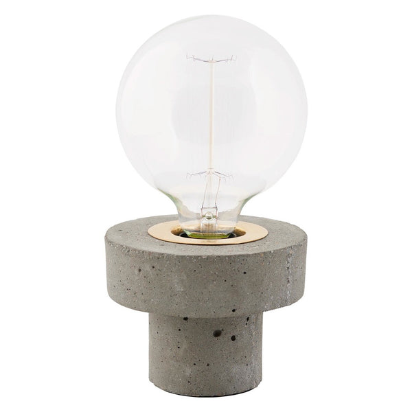 Concrete and brass table lamp by House Doctor