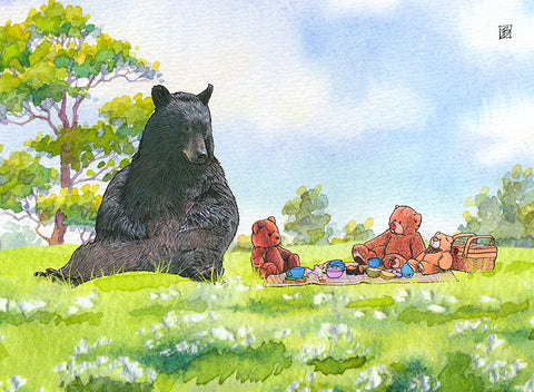 Teddy Bear Picnic - 5x7 blank card