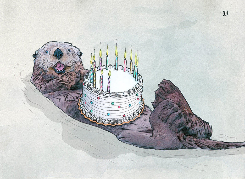 We Otter Celebrate - 5x7 blank card
