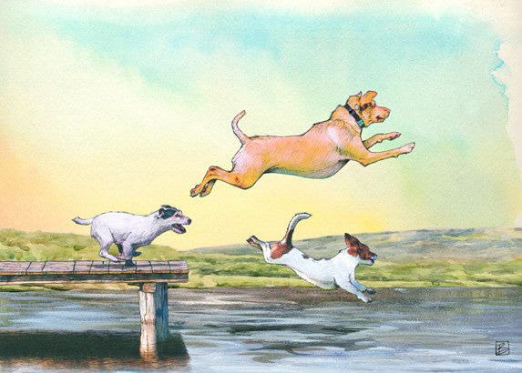 Dog Days - 5x7 blank card