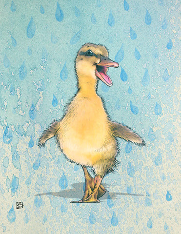 Singing in the Rain - 5x7 blank card