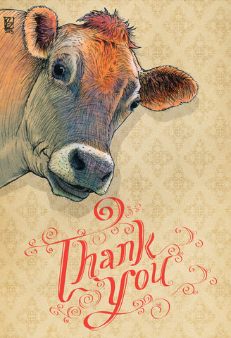 Thank You - 5x7 blank card