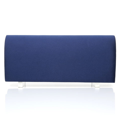 SIMPLE Navy Blue Satin Medium Size Round Fold Over Clutch Bag