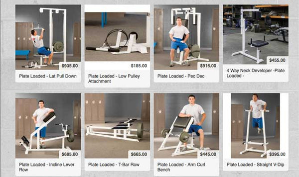 BFS Plate Loaded Strength equipment