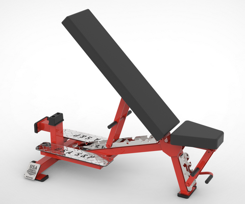 Ranger Elite Adjustable Bench, w/ Handle-Wheels, w/ Stand-up