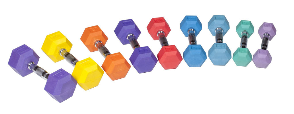 Rubber Hex Dumbbell - Color - York