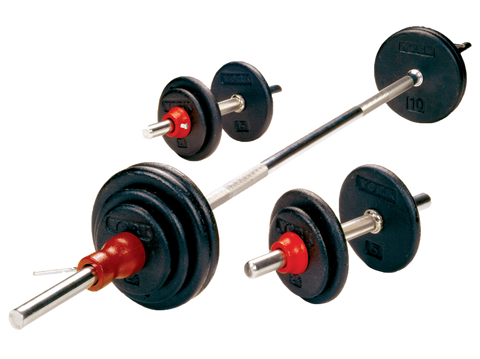 Black Cast Iron Dumbbell/Barbell Sets - York