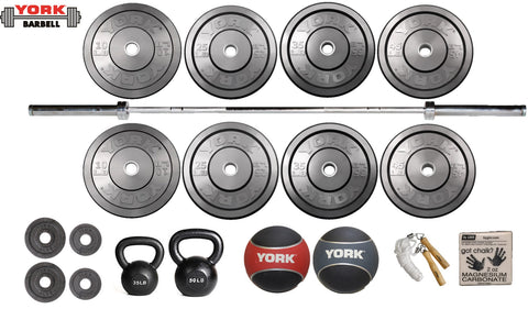 Barbell Starter Garage Gym Package - York