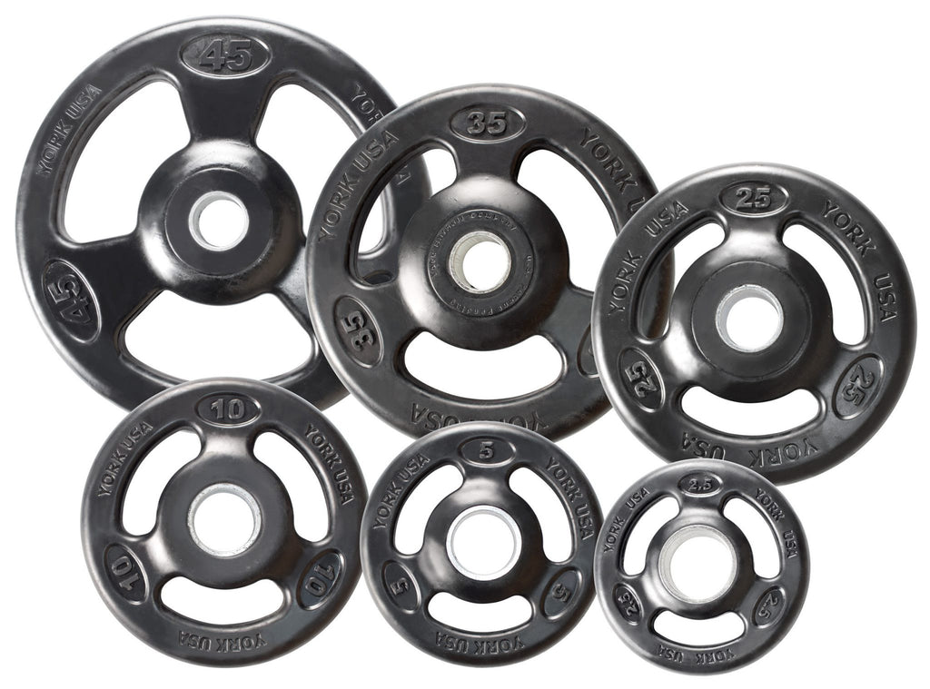 Iso-Grip Rubber Encased Steel Olympic Plate - York