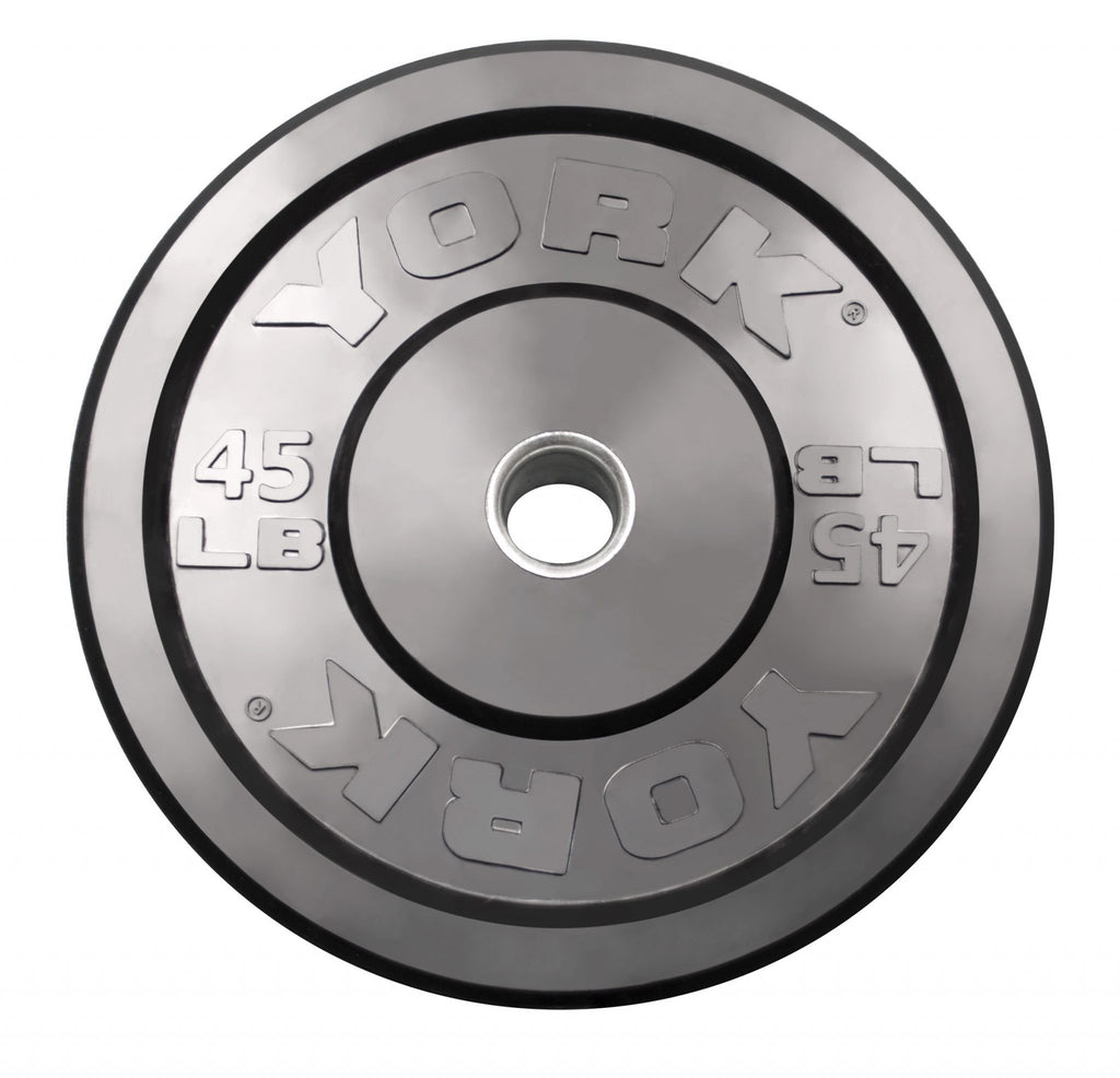 Rubber Training Bumper Plate - Black - York