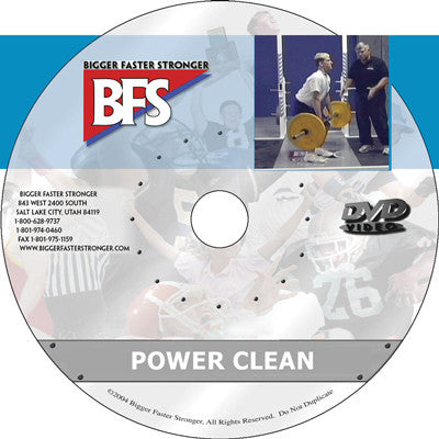 Video - The Power Clean and Variations