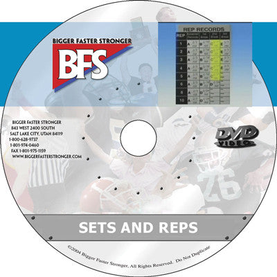 Video - BFS Sets and Reps