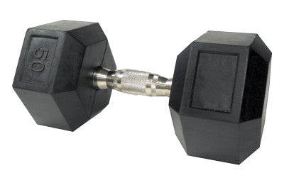 Rubber-Encased Dumbbells