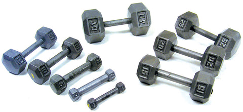 Cast Iron Hex Dumbbell - York