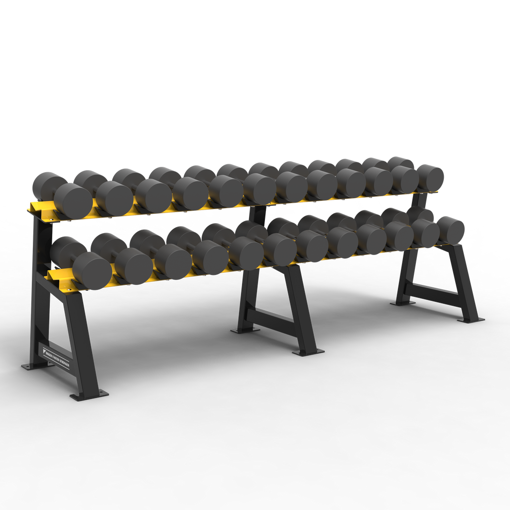 "BFS - D1 STORAGE - 2 TIER DUMBBELL RACK (8'4"") SADDLES (12 PAIR)"