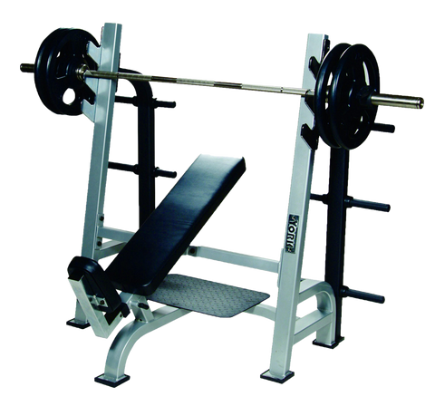 ST Olympic Incline Bench w/Gun Racks - York