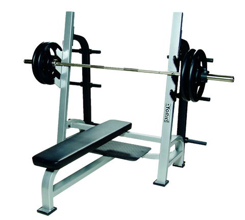 ST Olympic Flat Bench w/Gun Racks - York