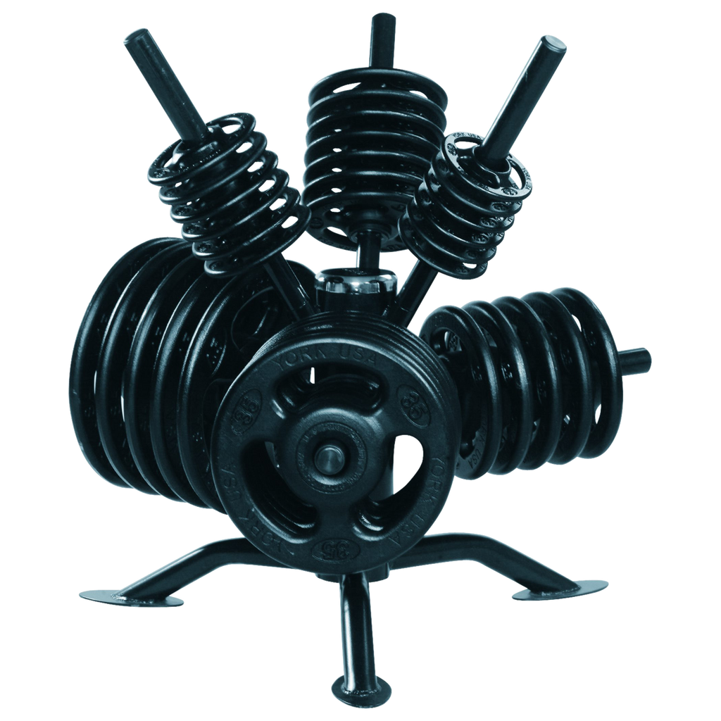 """Spider Rack"" Rotational Olympic Plate Rack - York"
