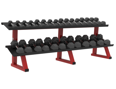 Dynamic 2-Tier Hex Style Dumbbell Rack