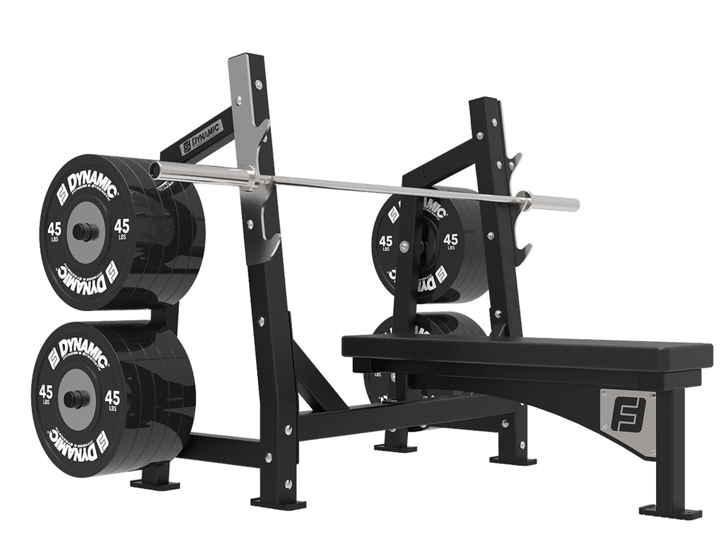 Ultra Pro Olympic Flat Bench w/ Olympic Plate Loaded Storage