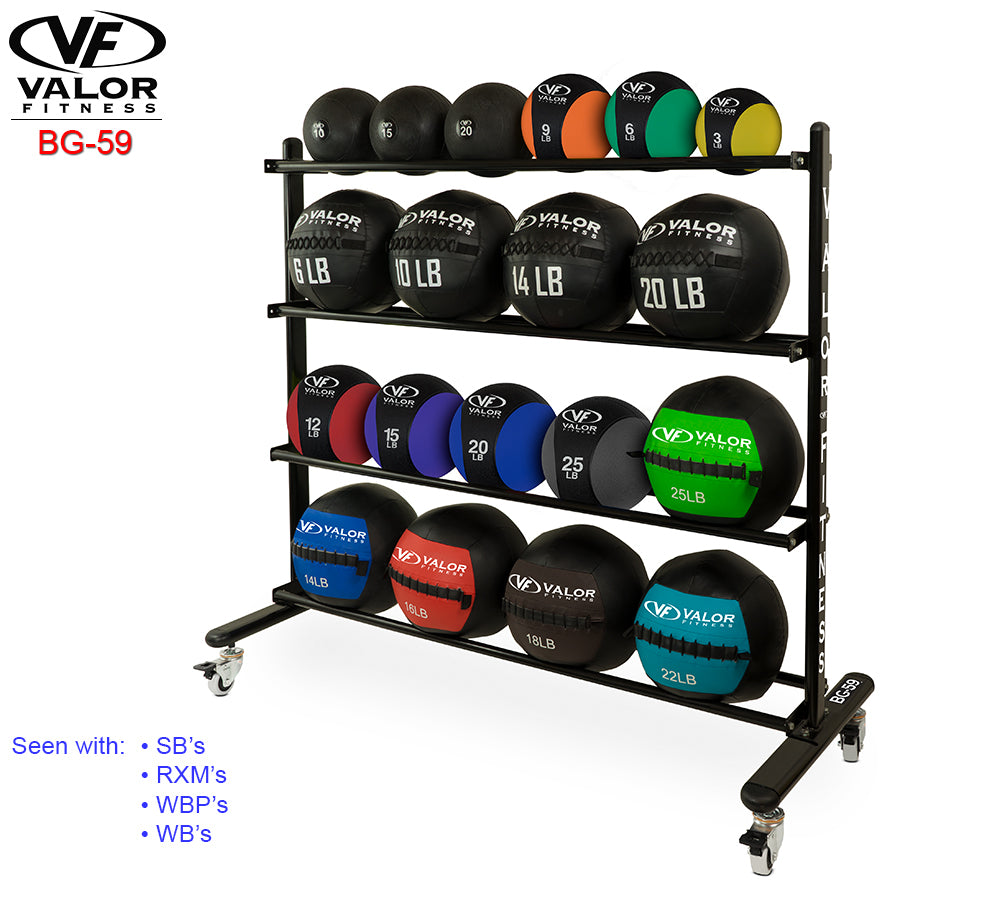 Exercise ball rolling rack