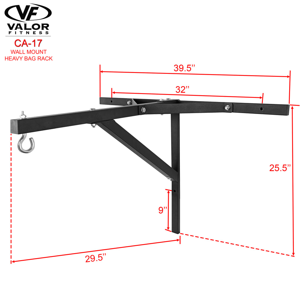 Wall mount heavy bag bracket