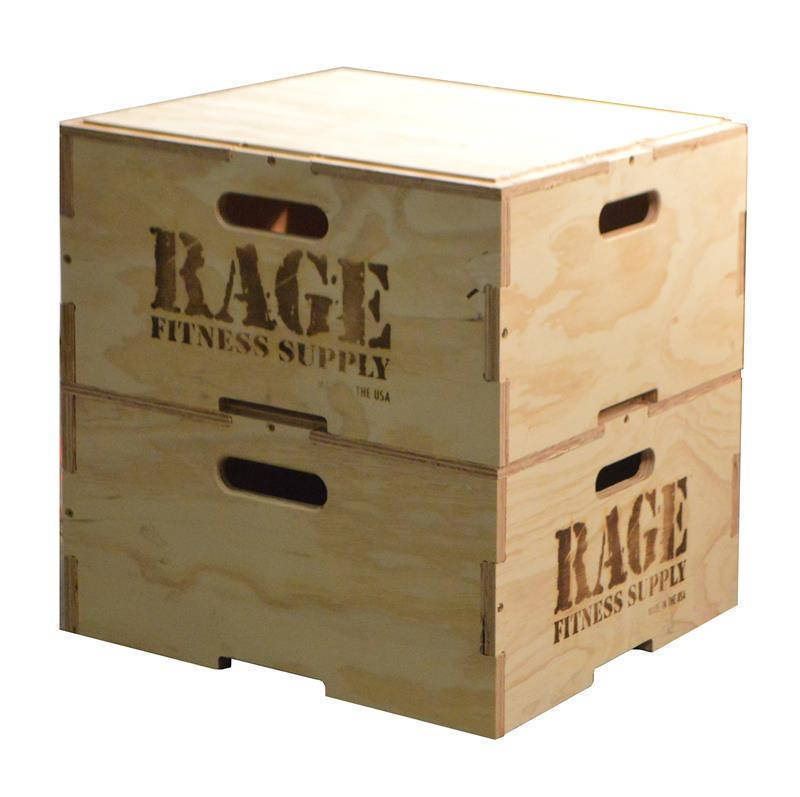 "Rage Stackable Plyo Box 8"" and 12"""
