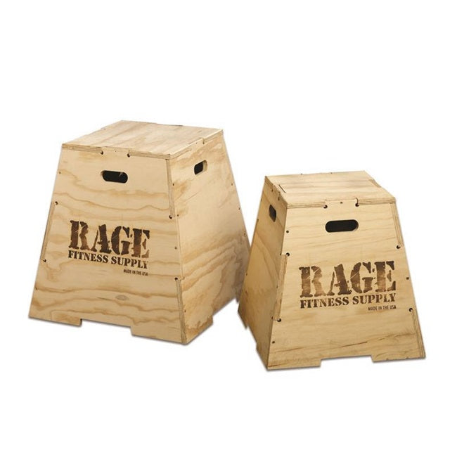"Rage Wooden Puzzle Plyo Box - 20"" to 30"""