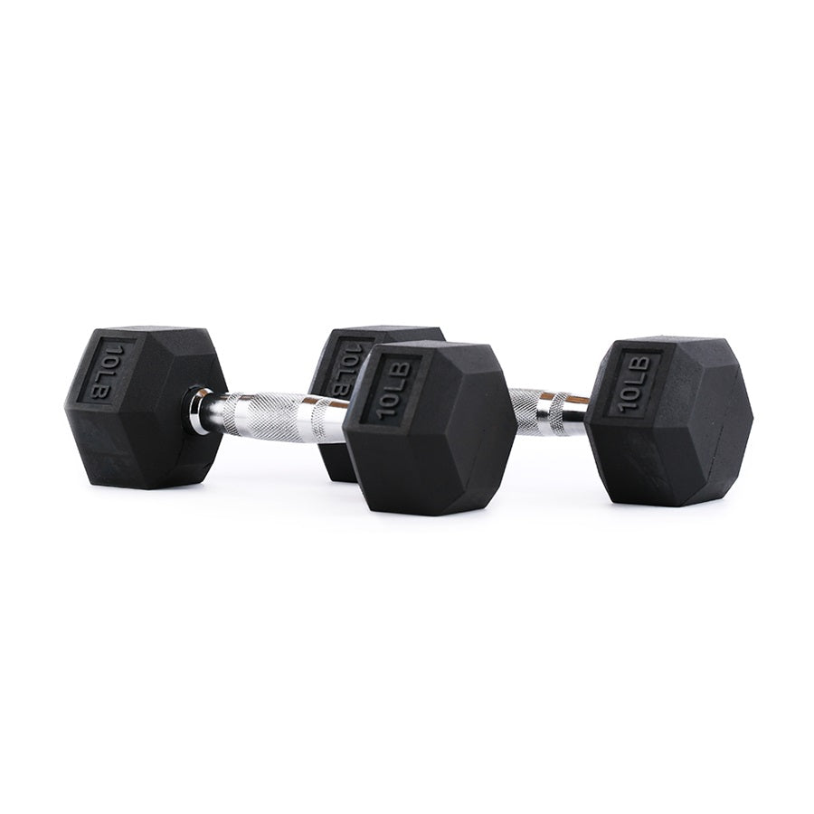 RAGE Rubber Hex Dumbbells - 5 to 100 lbs.