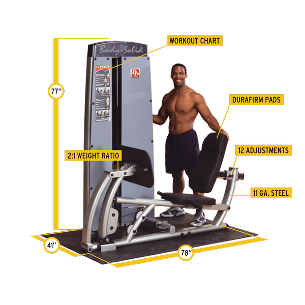 Body-Solid - Dual Leg/Calf Machine FREESTANDING, W STACK
