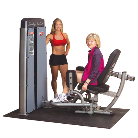 Body-Solid - DUAL INNER OUTER THIGH MACHINE, FREESTANDING, 210LB STACK