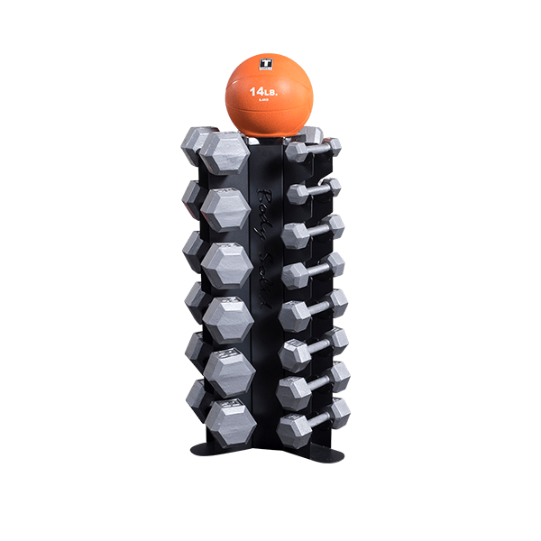 Body-Solid - Vertical Dumbbell Rack, 10 pairs