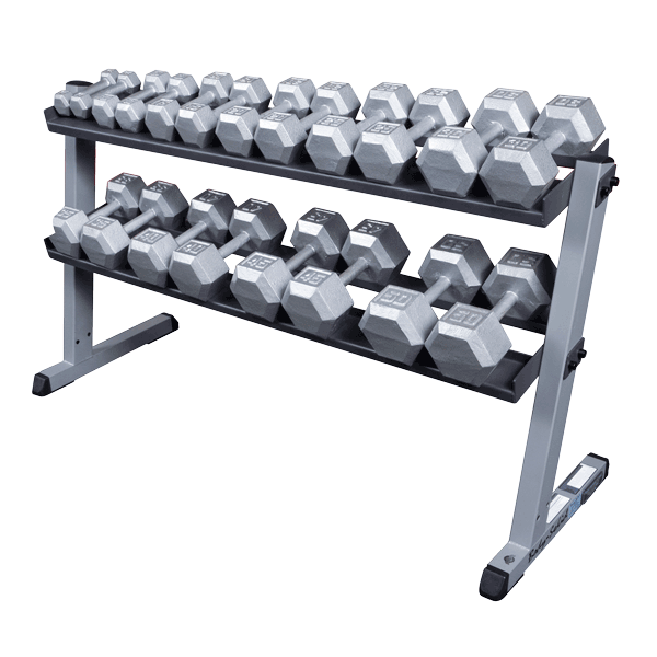 Body-Solid - 2 Tier Horizontal Dumbell Rack