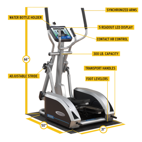 Body-Solid - ENDURANCE ELLIPTICAL AS