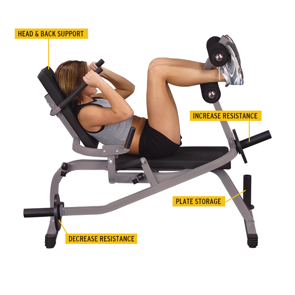 Body-Solid - Horizontal Ab Crunch Bench