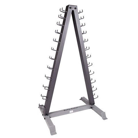 Body-Solid - 12 Pair Vinyl Rack with Rack, Includes GDR24 and pairs Vinyl Dumbbells 1-15lbs
