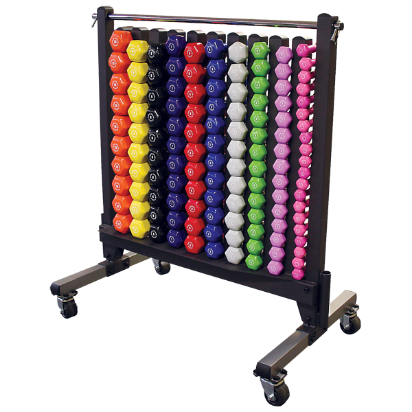 Body-Solid - Vinyl Dumbell Rack