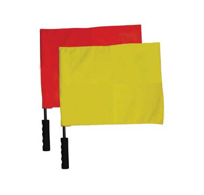Soccer Linesman Flad-Red/Yellow