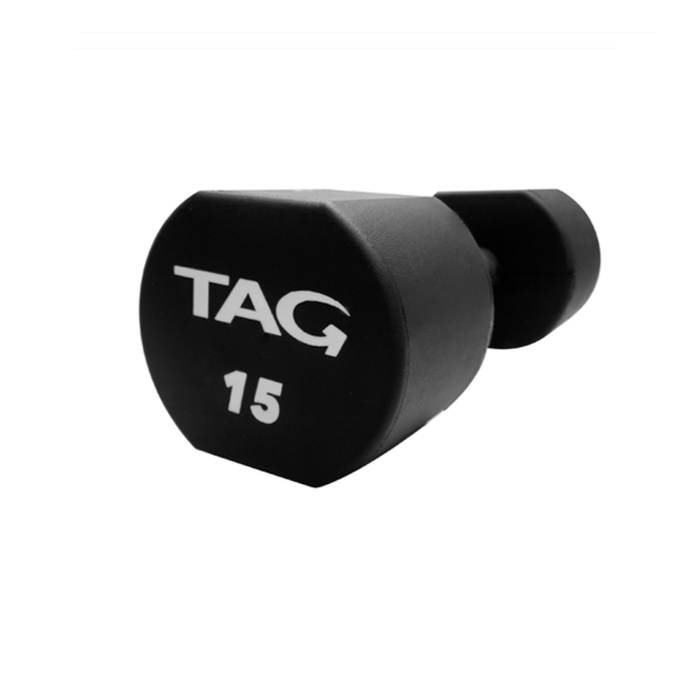 TAG MICRO POLY-URETHANE DUMBBELLS w/Contoured Handles - sold as set of 2.5-25 ONLY