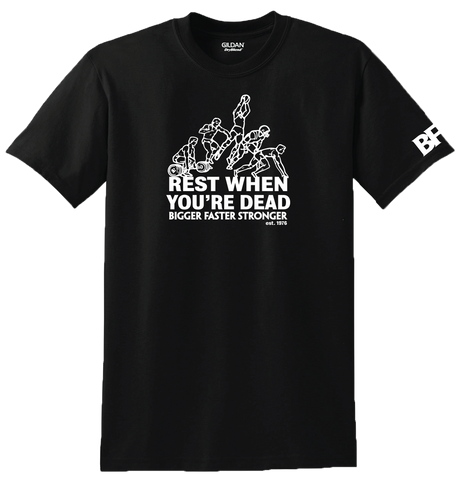 Old School T-Shirt - Rest When You're Dead