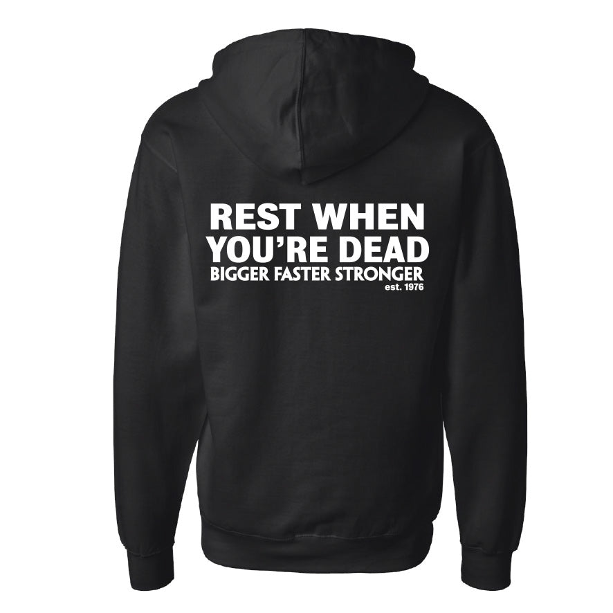 Rest When You Are Dead Zip Hoodie
