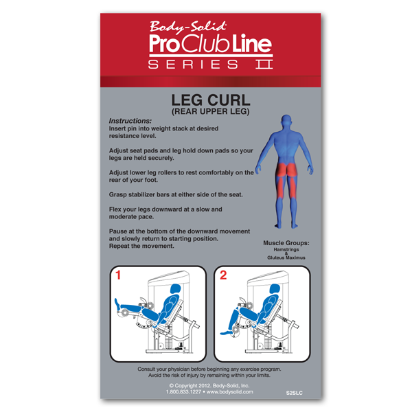 Body-Solid - PCL2 SEATED LEG CURL, 160 lb. or 235 lb. STACK