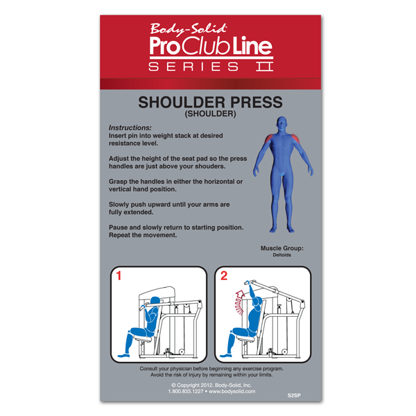 Body-Solid - PCL2 SHOULDER PRESS, 210 lb. or 310 lb. STACK