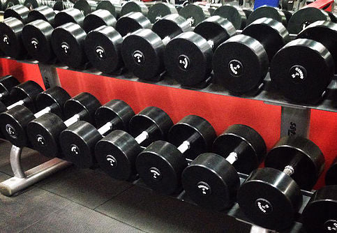Cemco Solid Steel Rubber Dumbbell Sets